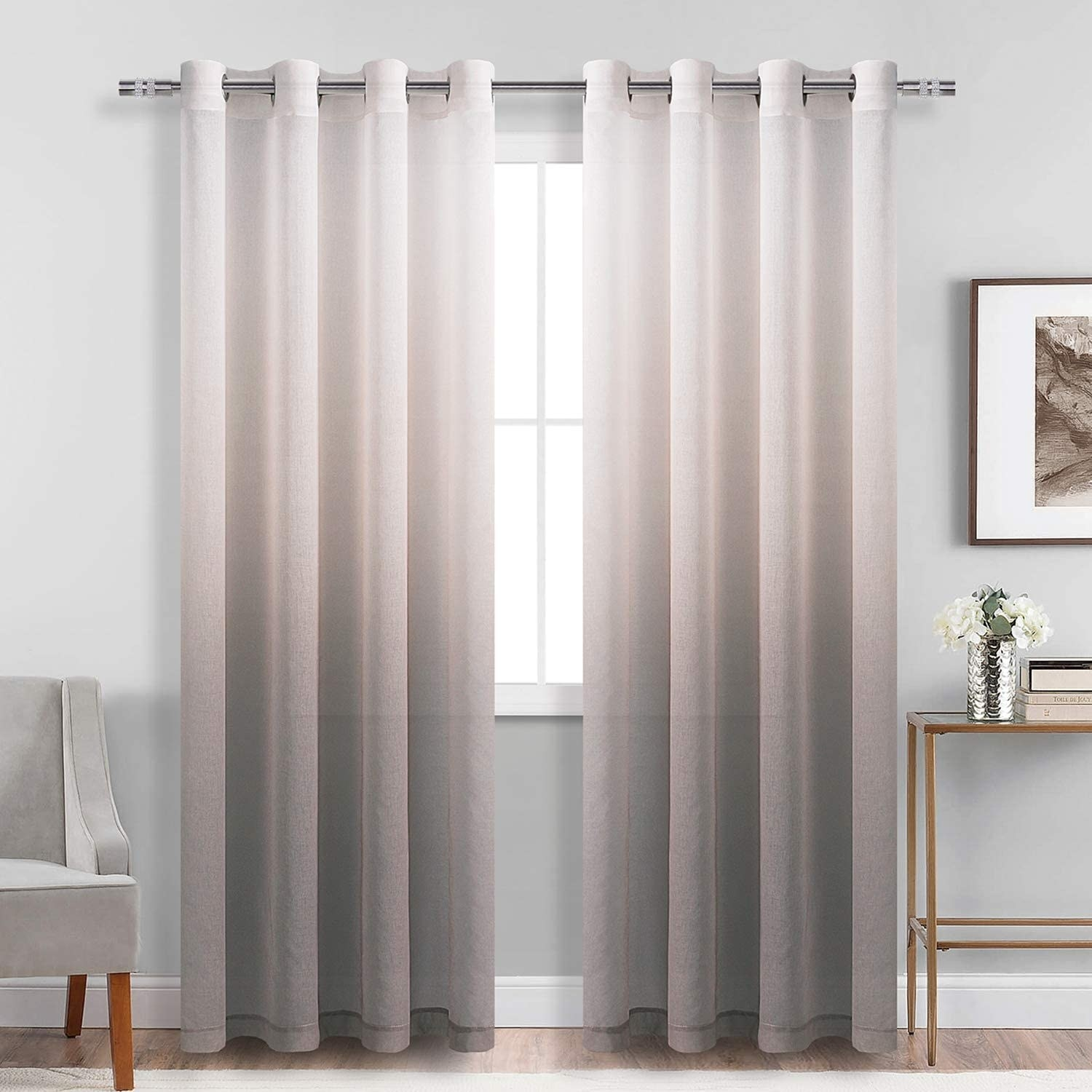 Brown ombre curtains