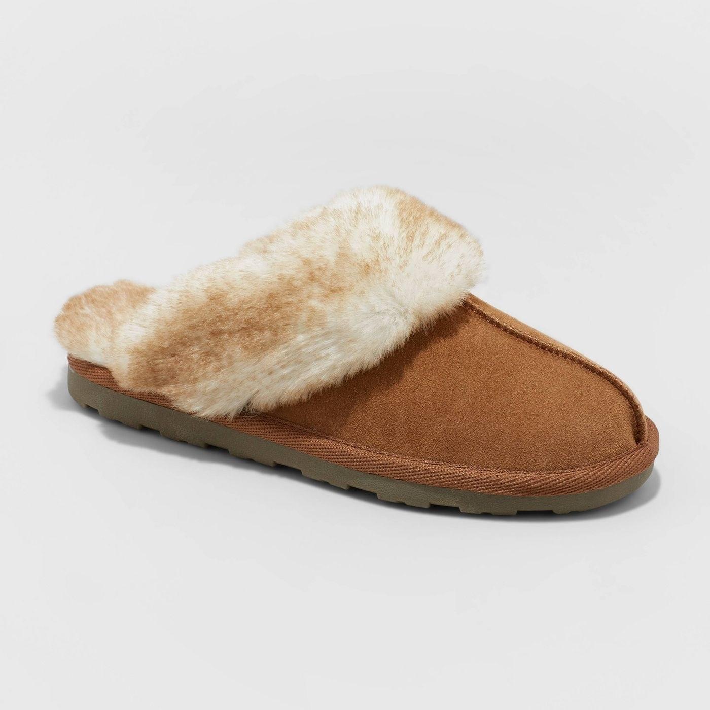suede scuff slide slippers