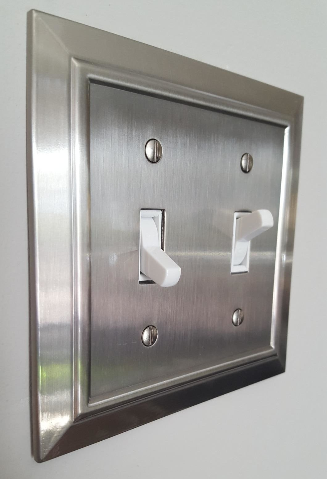 The silver-plated light switch cover