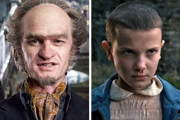 """Count Olaf from """"A Series of Unfortunate Events"""" and Eleven from """"Stranger Things"""""""