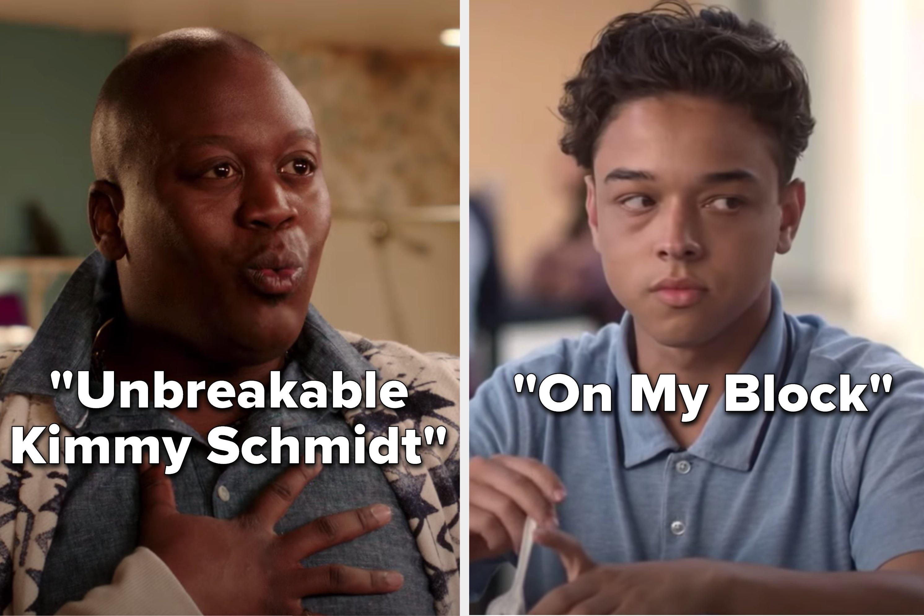 """Unbreakable Kimmy Schmidt"" and ""On My Block"""