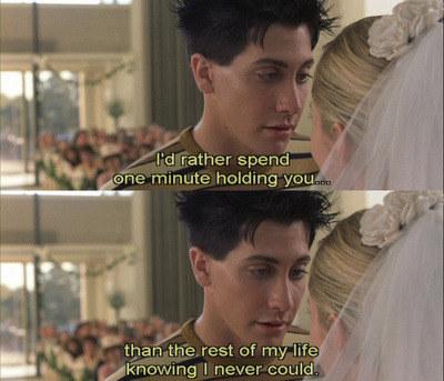 Jimmy telling Chloe he loves her at her wedding