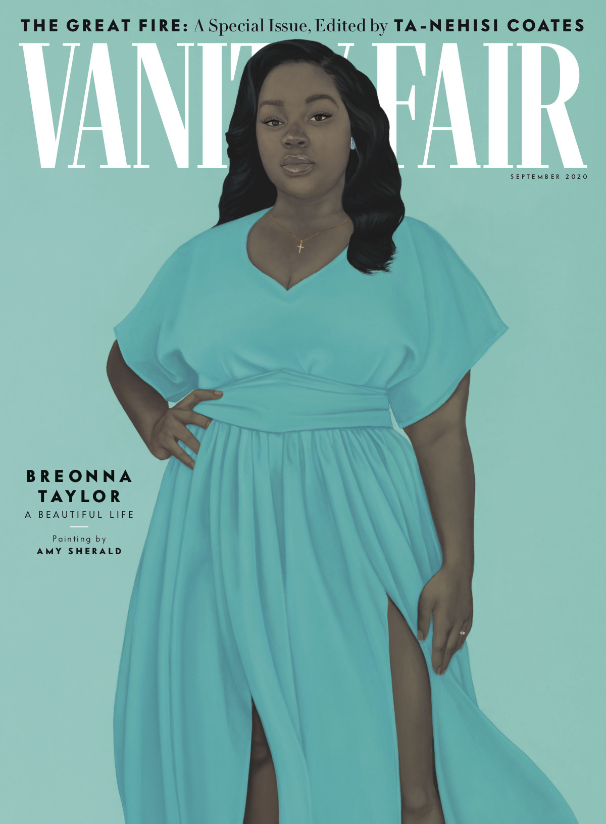 Cover of Vanity Fair's September 2020 issue, featuring a painting of Breonna Taylor
