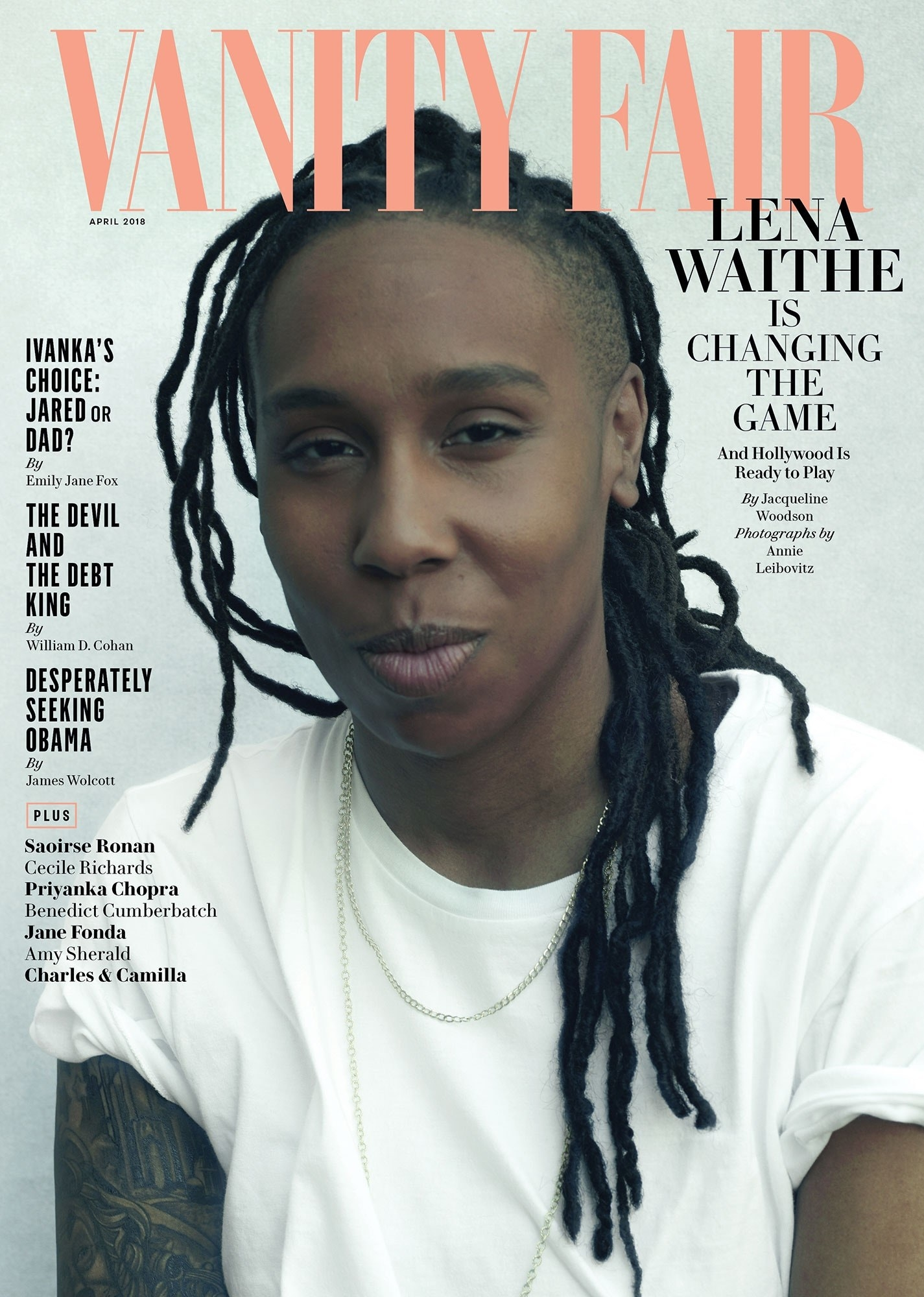 Cover of April 2018 Vanity Fair cover with Lena Waithe