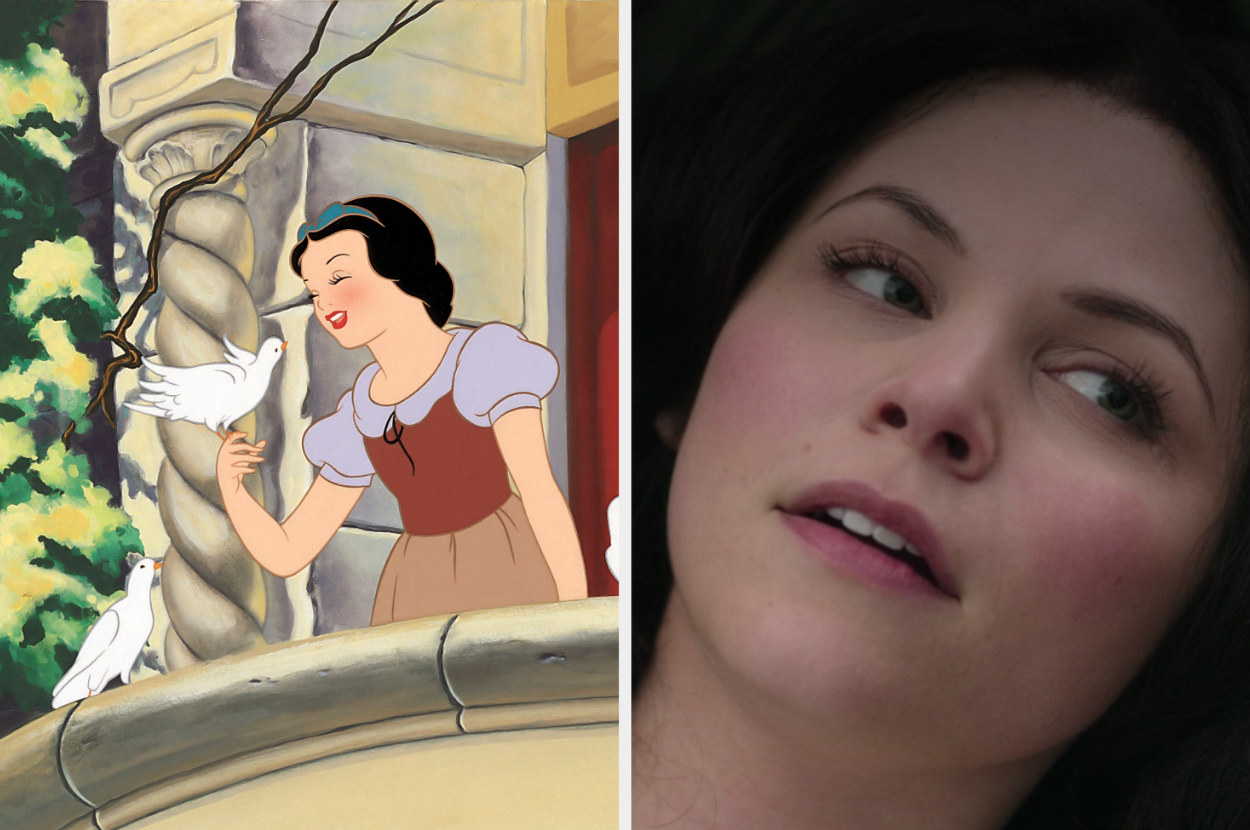 Snow White and Ginnifer as Snow White in Once Upon a Time