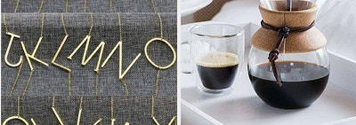 Initial necklaces / a coffee pour over maker