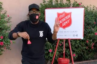Karamo working with Salvation Army