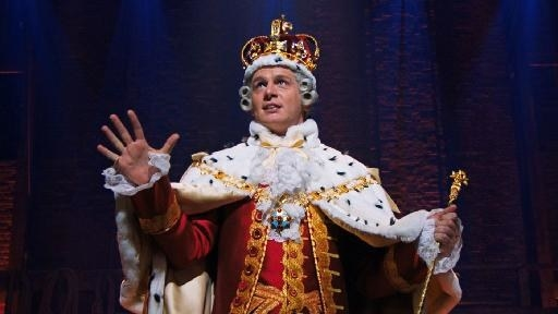 King George III singing to the crowd