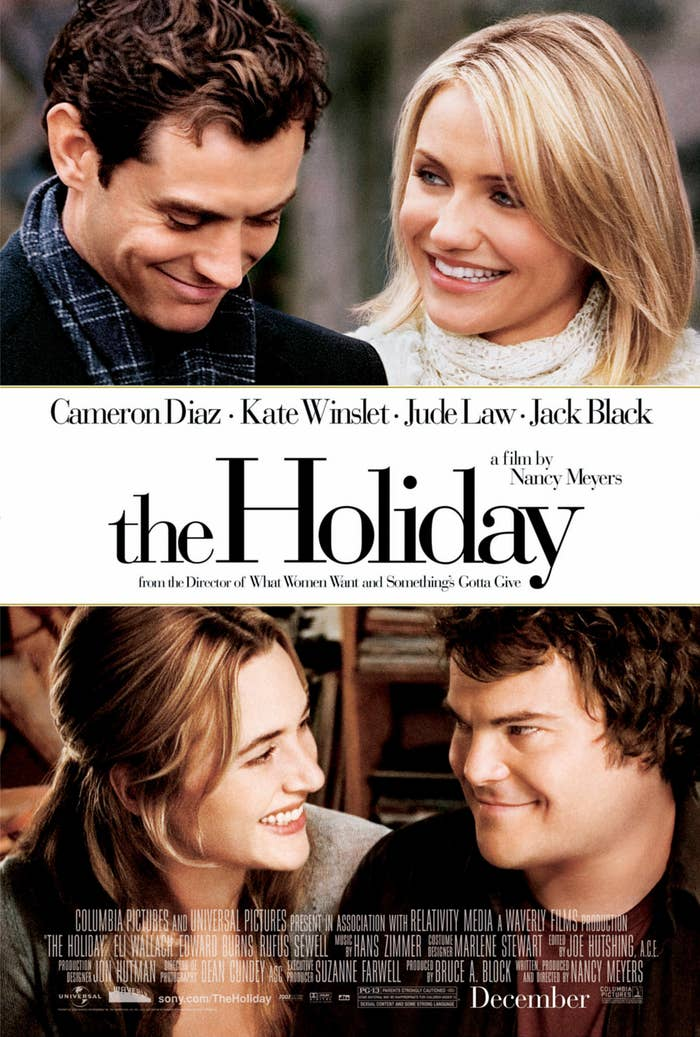 The movie poster for The Holiday