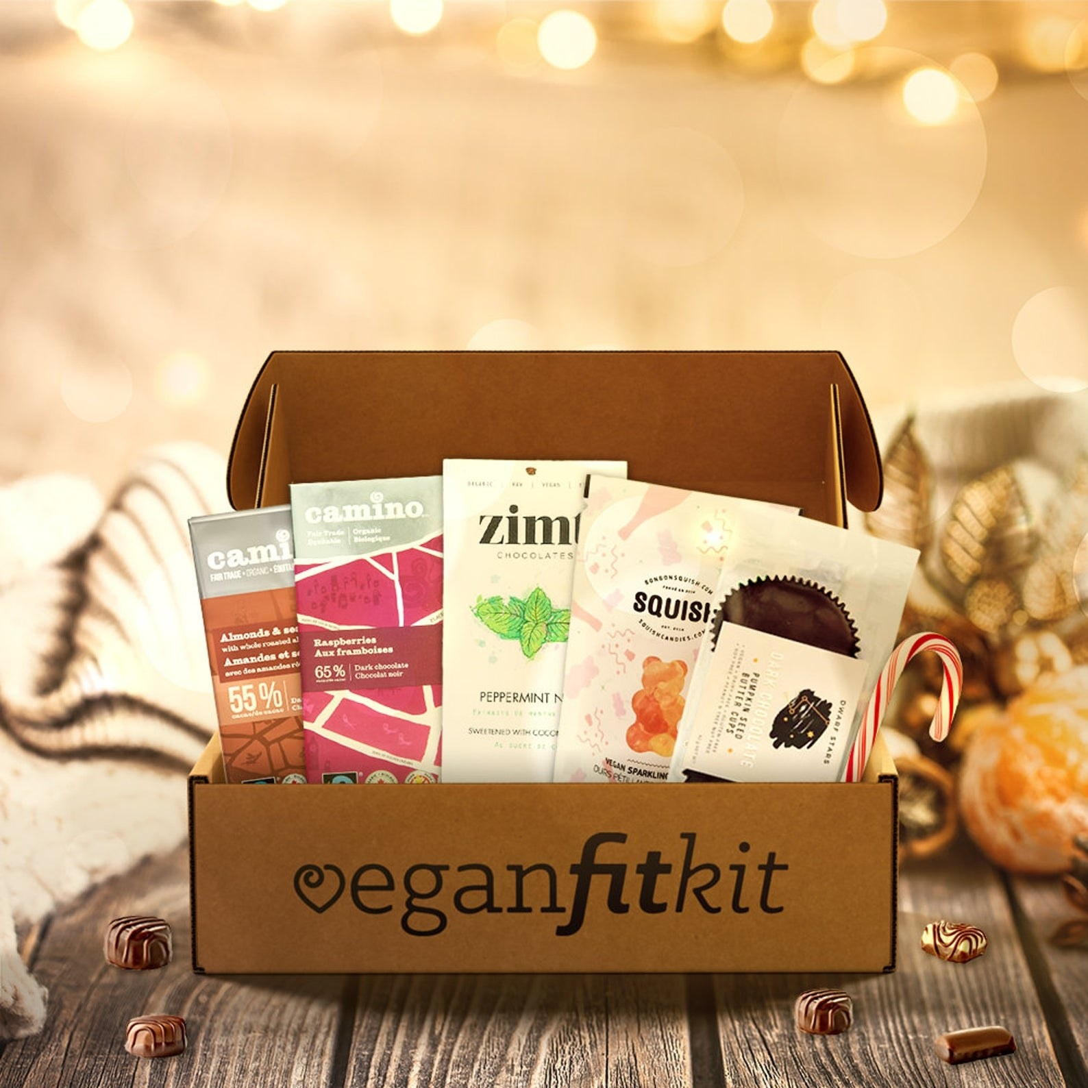 the sweets in the box that says veganfitkit