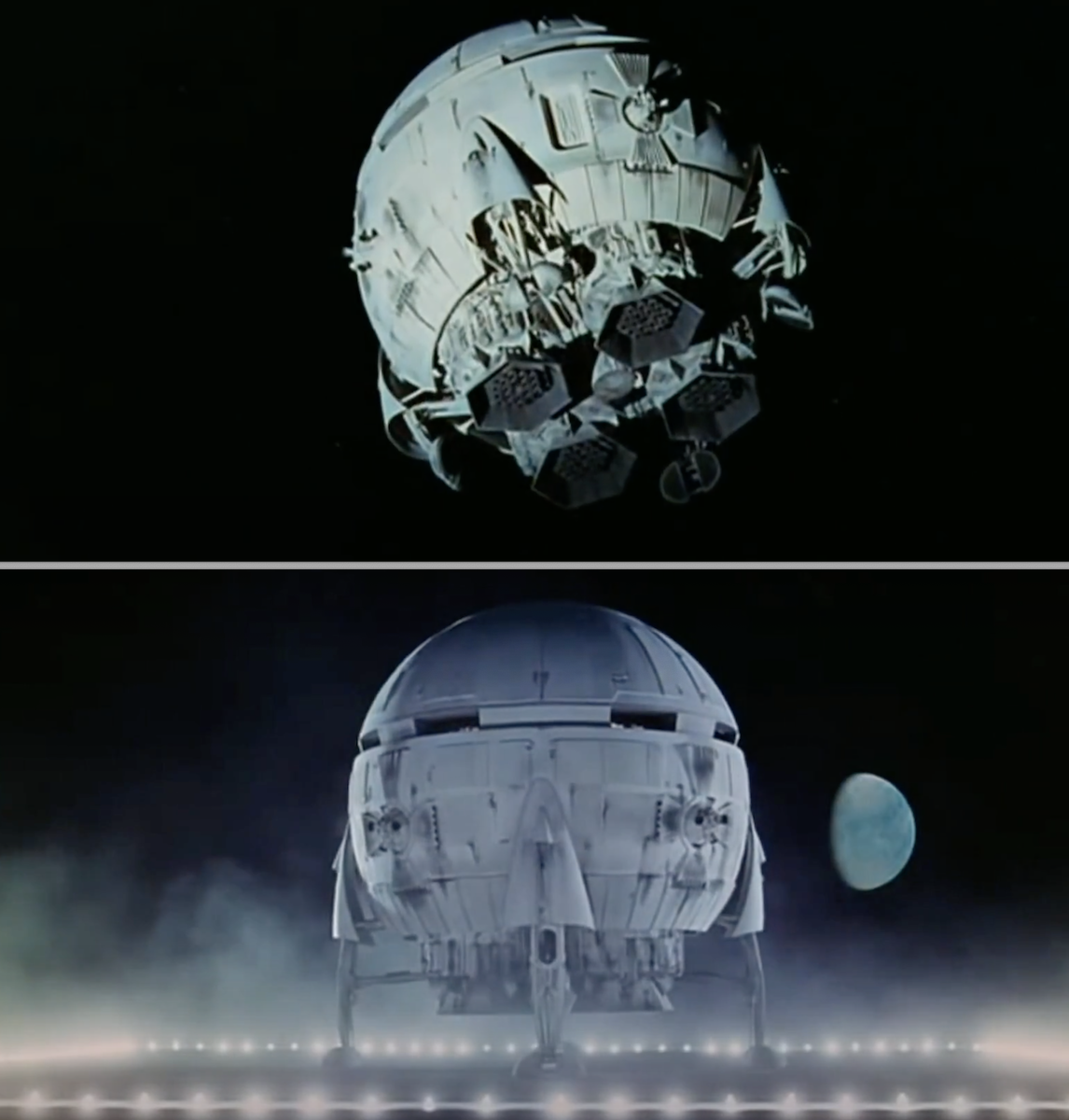 "The Aries 1B Trans-Lunar Space Shuttle landing in ""2001: A Space Odyssey"""