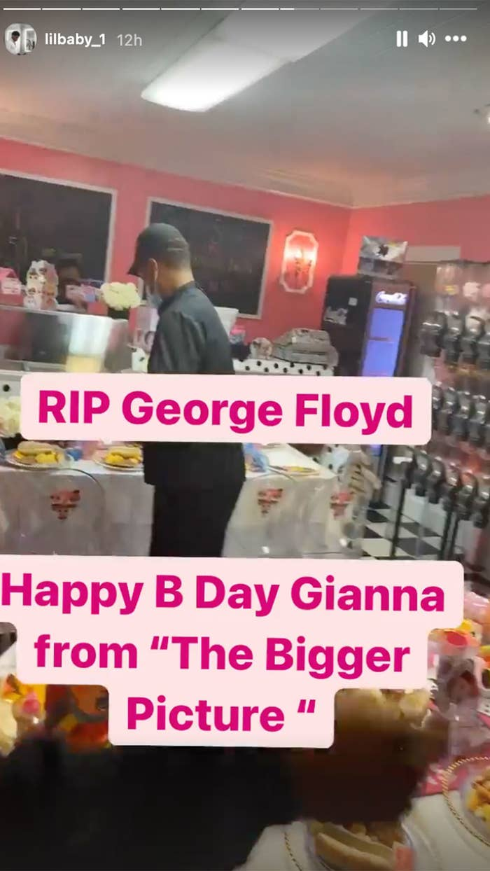 Screenshot of George Floyd's daughter's birthday party