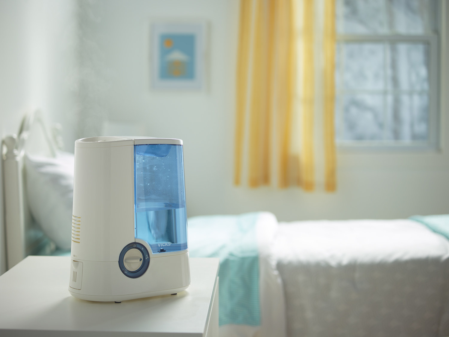 the humidifier in a room