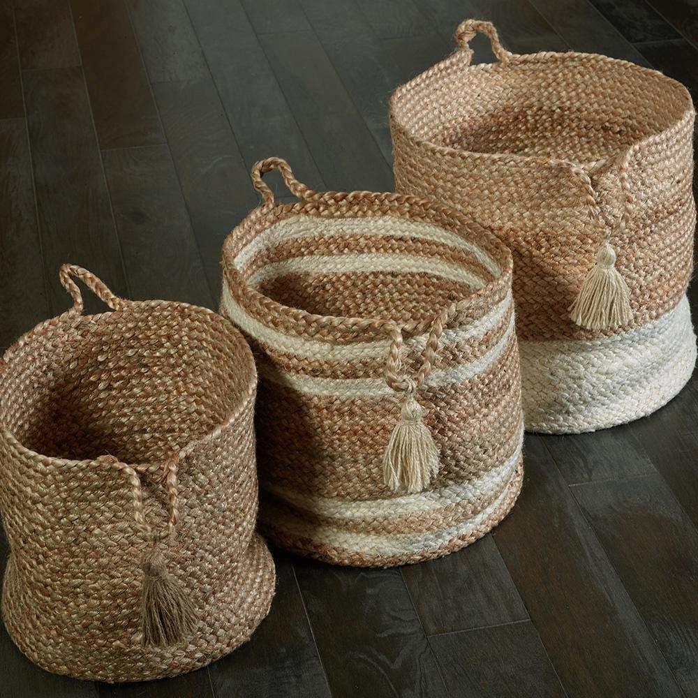 A set of jute baskets
