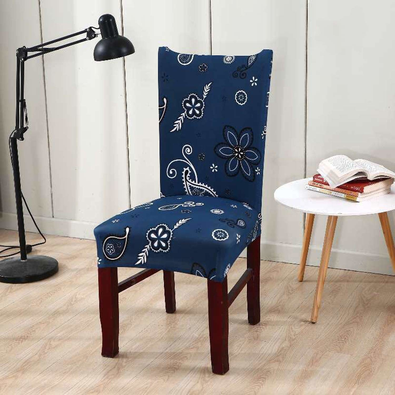 Blue floral chair covers