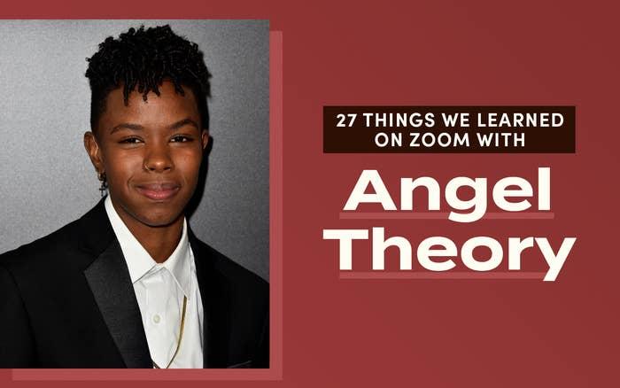 Angel Theory smiling wearing a dangling earring