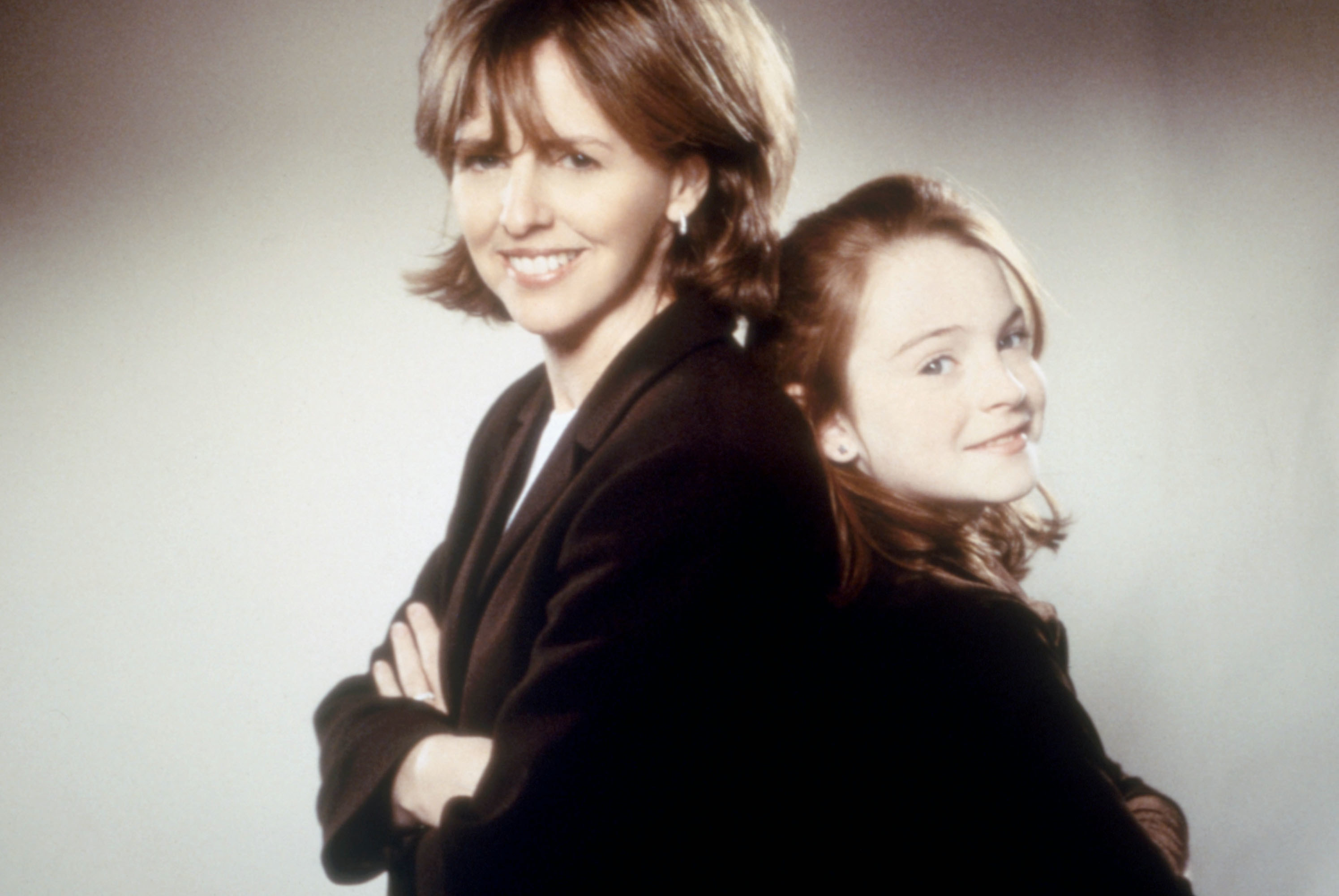 Nancy Meyers and a young Lindsay Lohan circa The Parent Trap post back to back