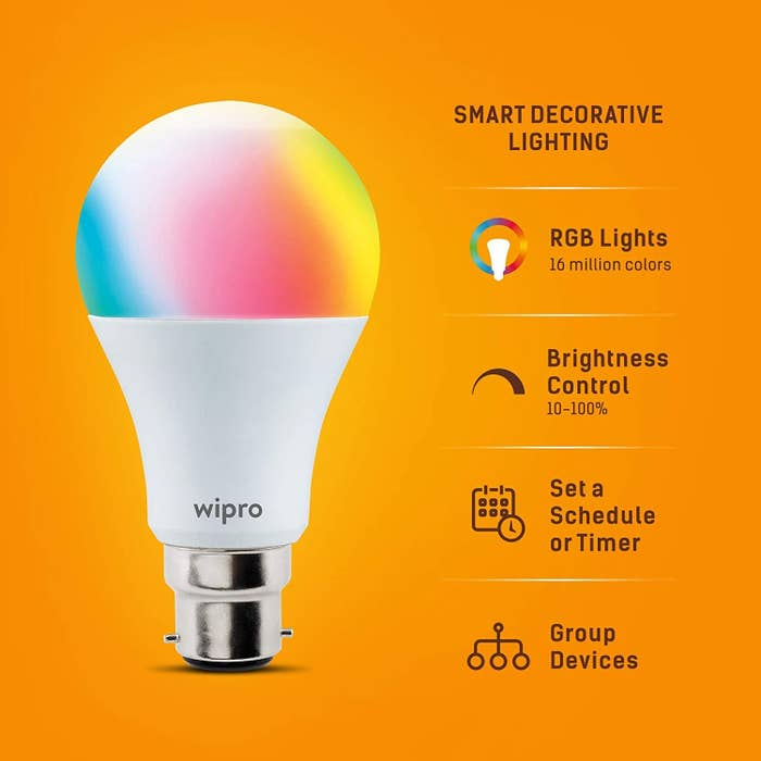 A smart light bulb with its features
