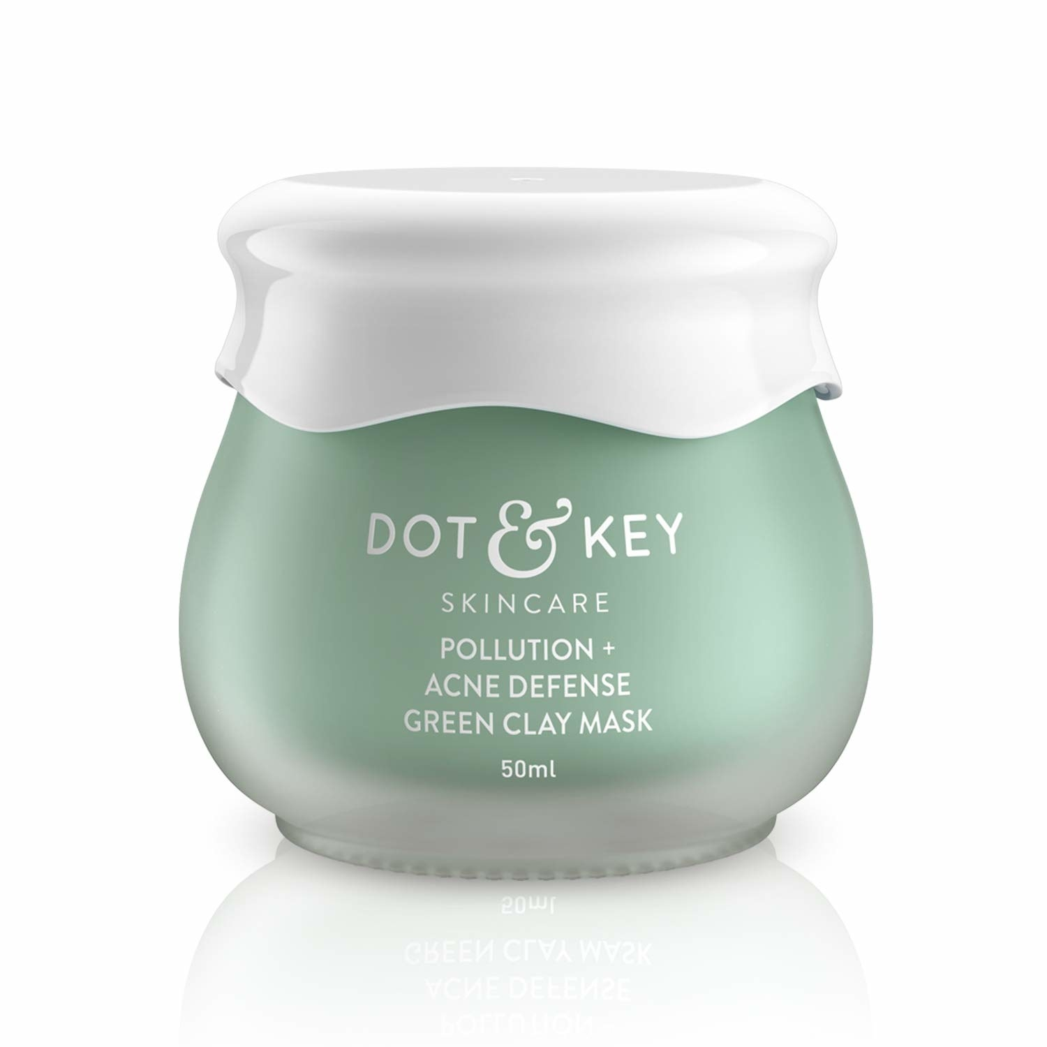 Green clay facemask packaging