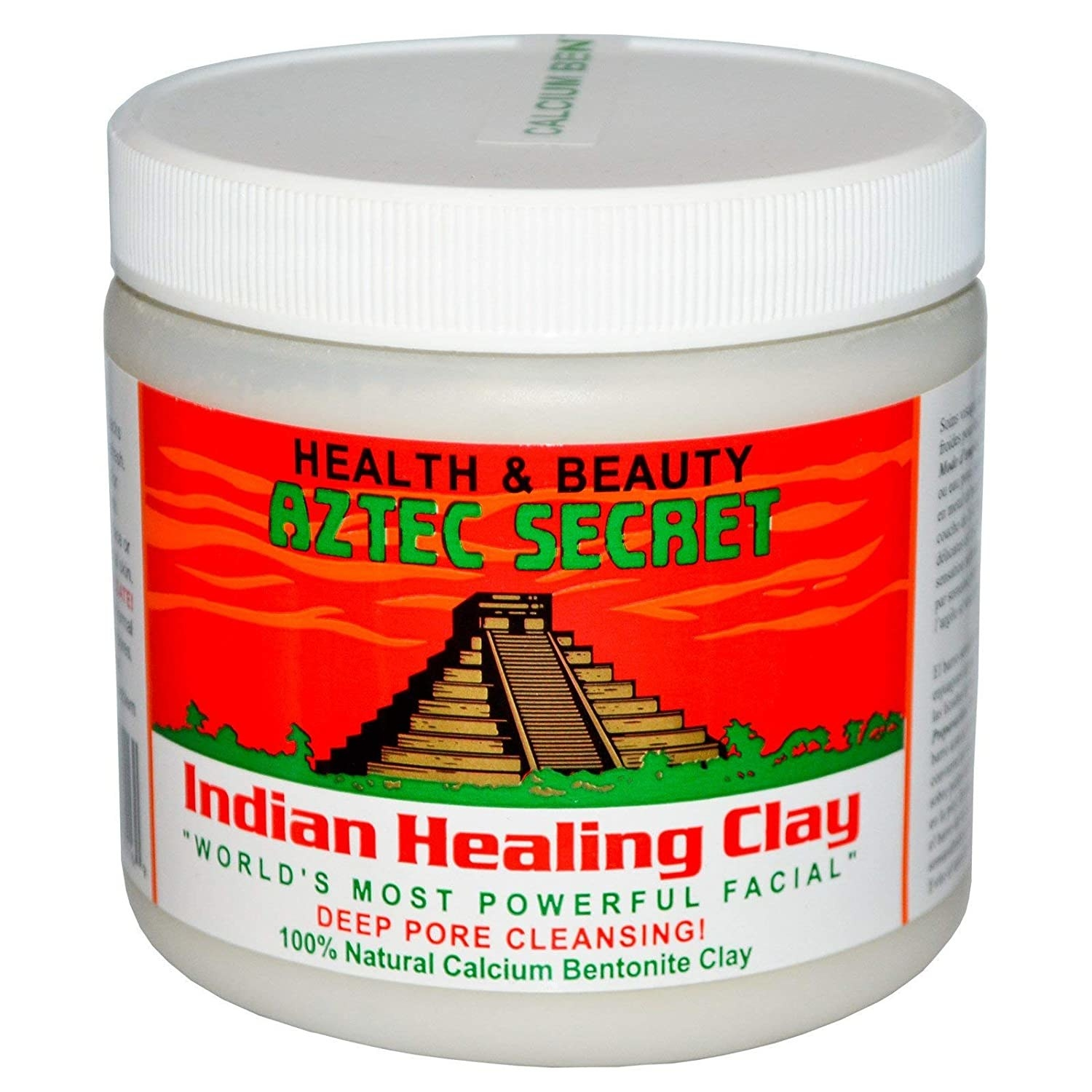 Packaging of the healing clay face mask