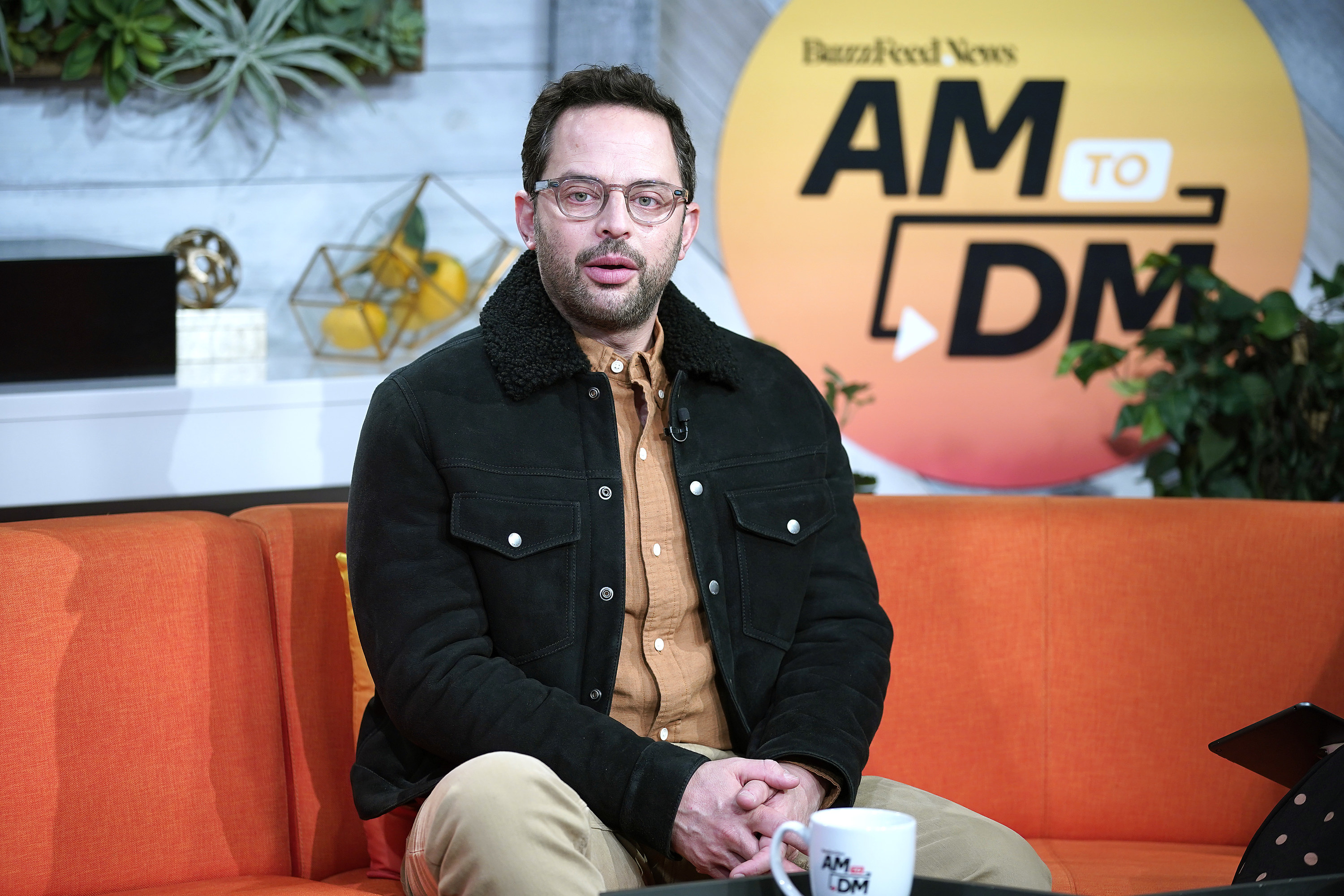 """Nick Kroll visits BuzzFeed's """"AM To DM"""" on February 13, 2020 in New York City"""