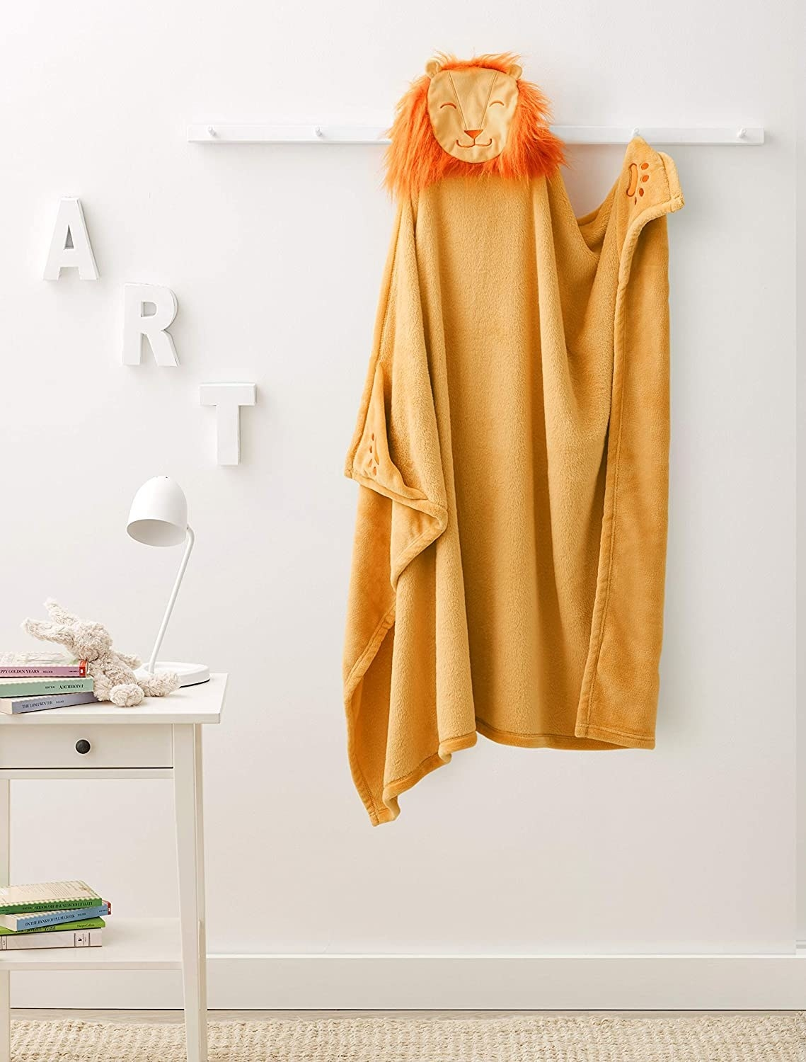 the orange lion blanket towel