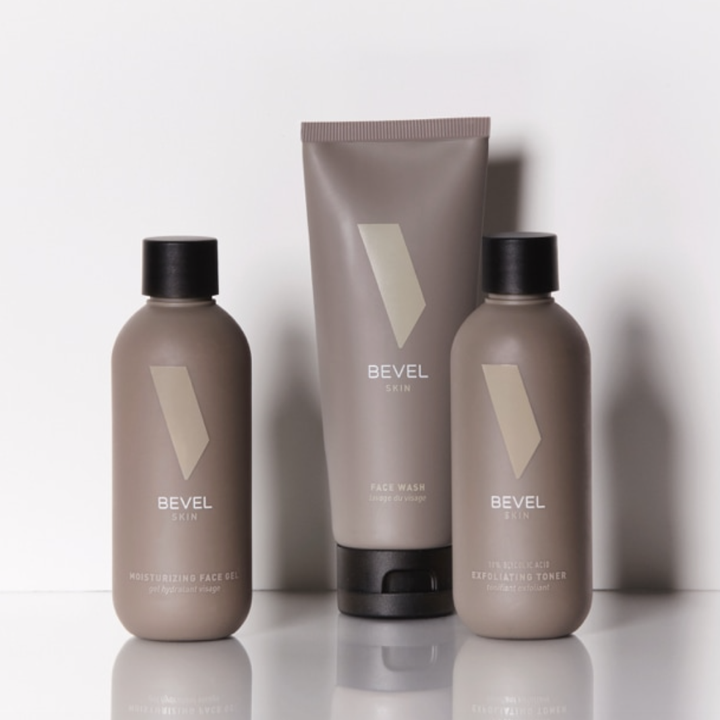 A close-up of the three skin-care products in the bundle
