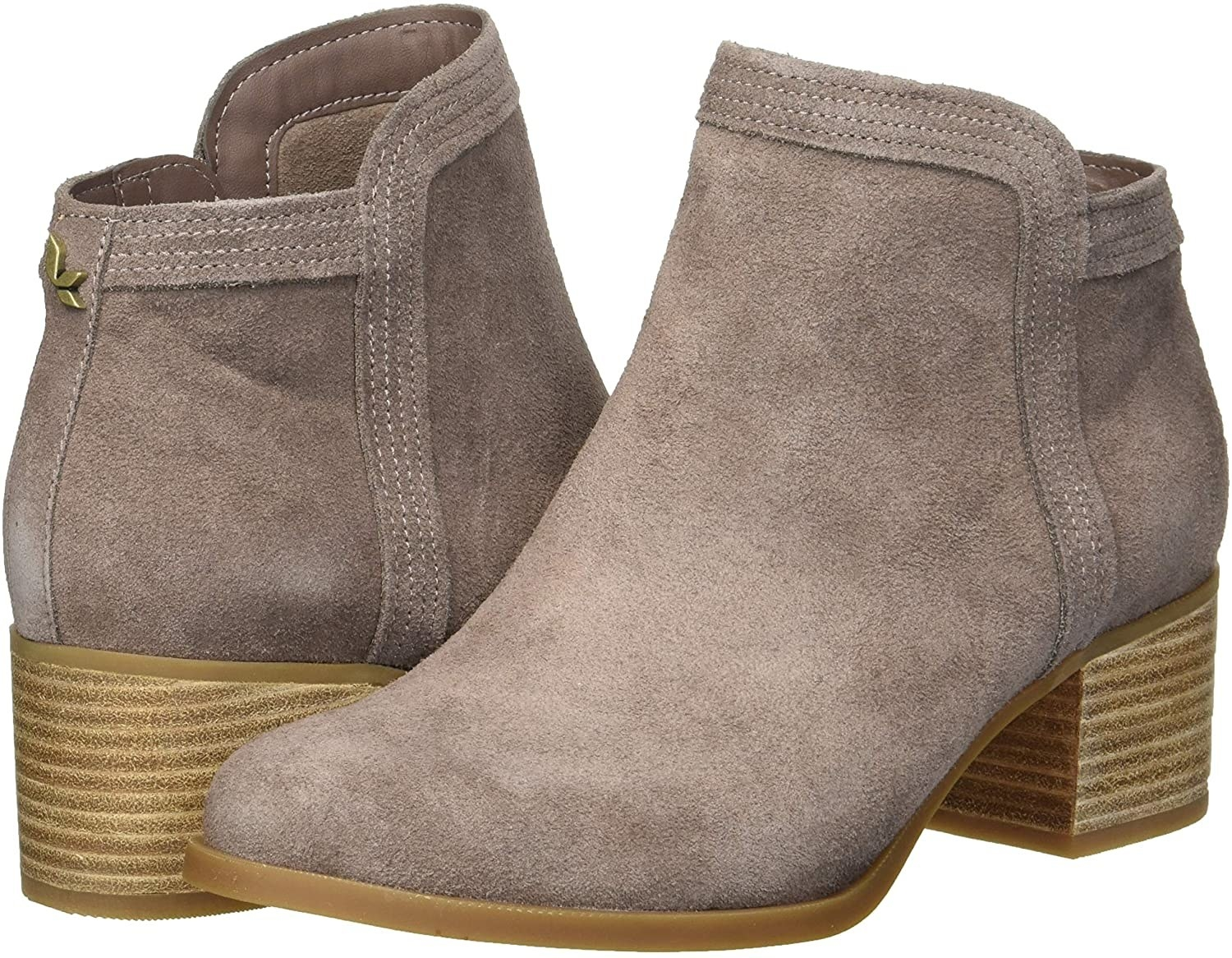 a pair of suede boots