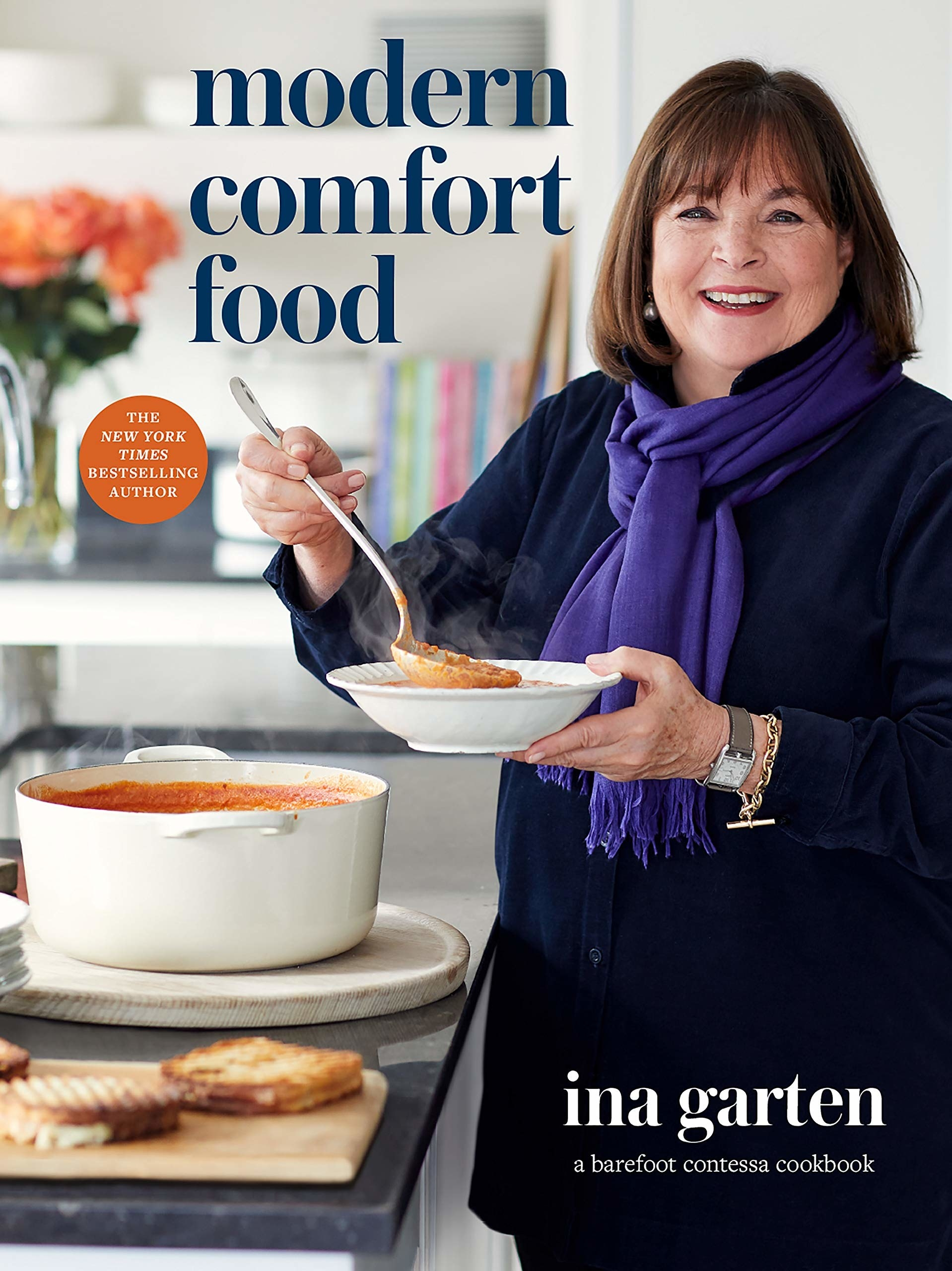 "The cover of ""Modern Comfort Food"" by Ina Garten"