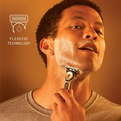 model shaving with the heated razor