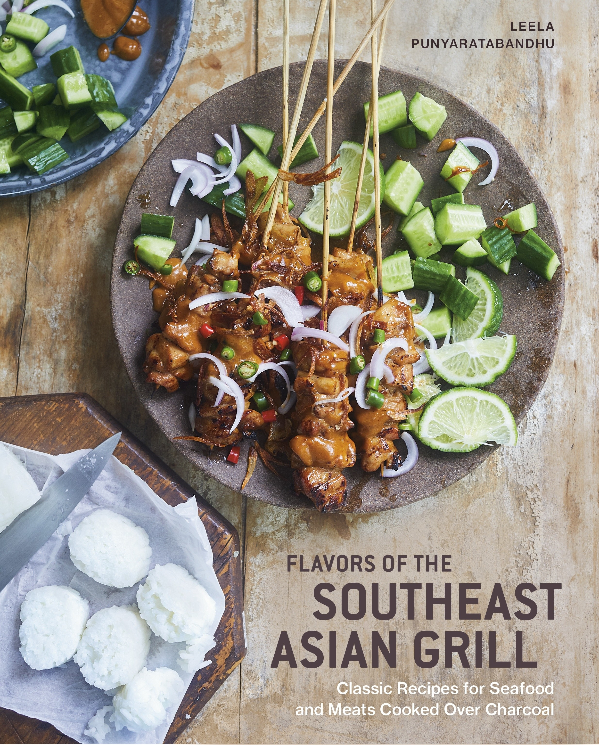 The cover of 'Flavors of the Southeast Asian Grill' by Leela Punyaratabandhu