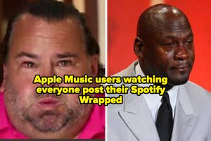 Two men crying memes with
