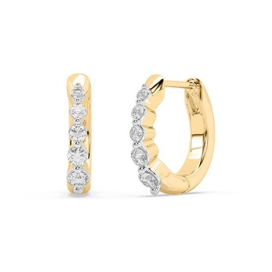 The yellow gold and diamond hoops