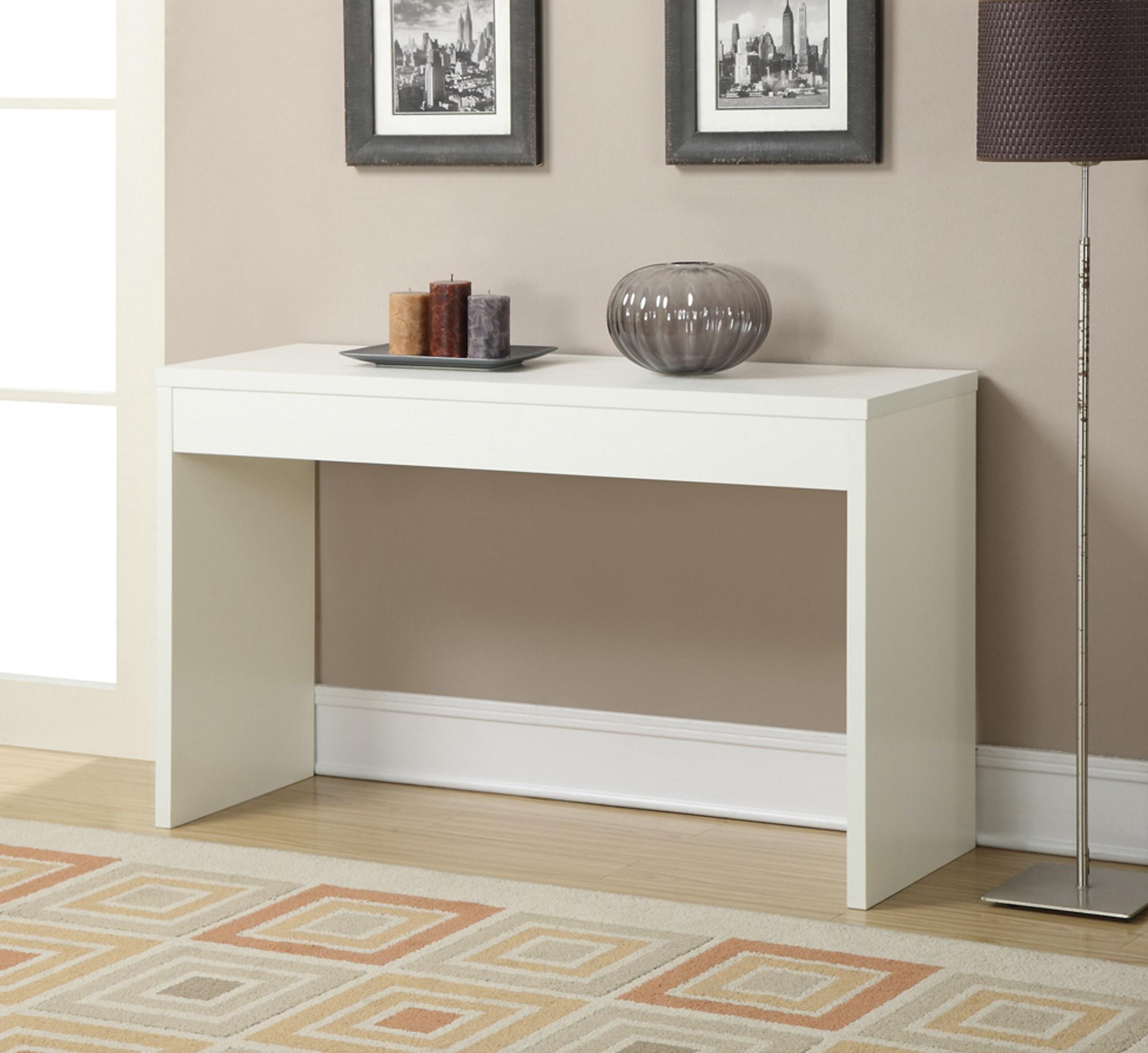 White long desk