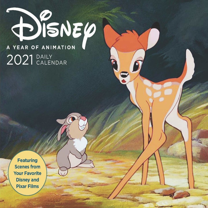 a calendar with bambi on it