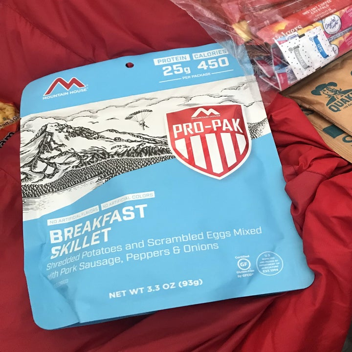 writer's mountain house breakfast skillet meal pack