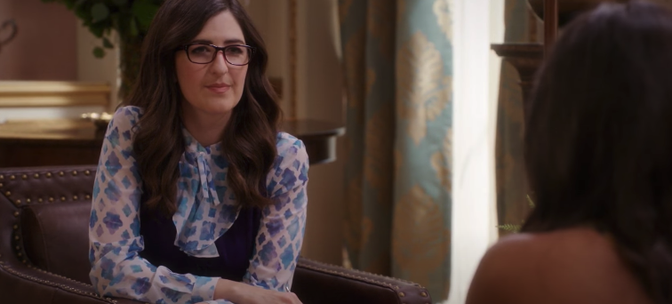 """Janet from """"The Good Place"""" being Tahani and Jason's therapist"""