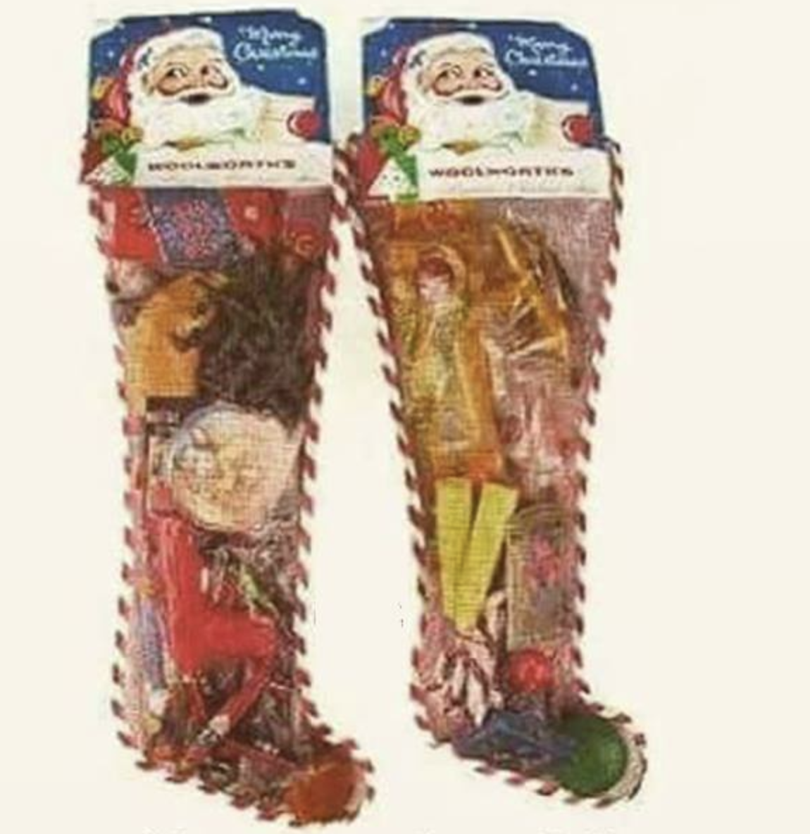 old candy stocking