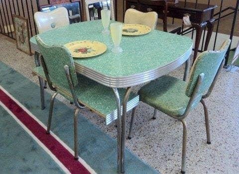 50s dinner table