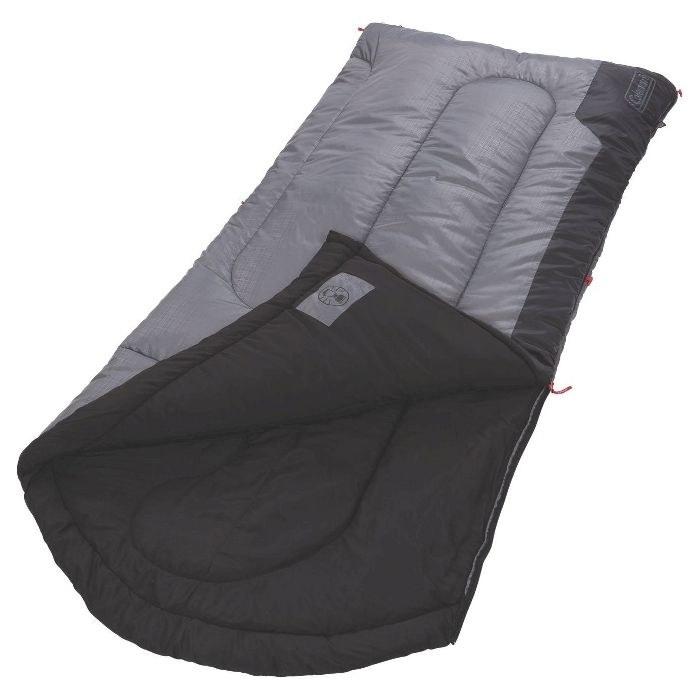 Grey and black sleeping bag