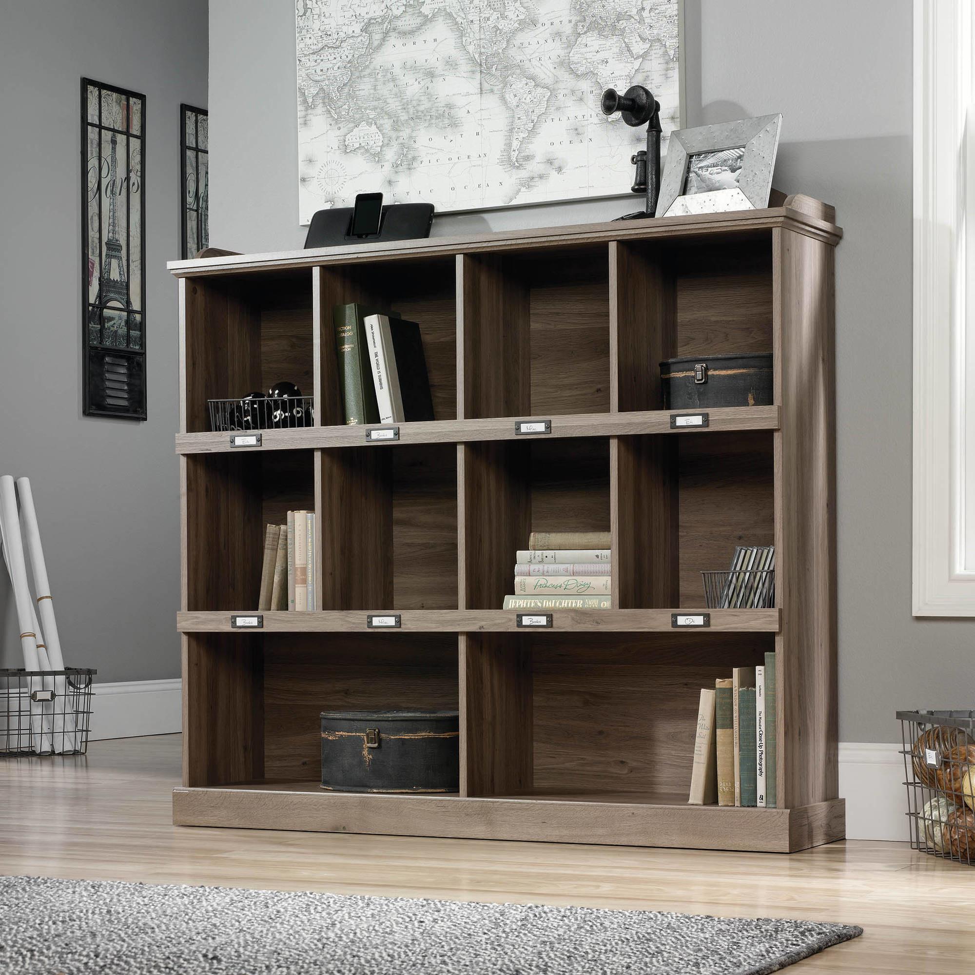 Salt Oak finished three row bookcase
