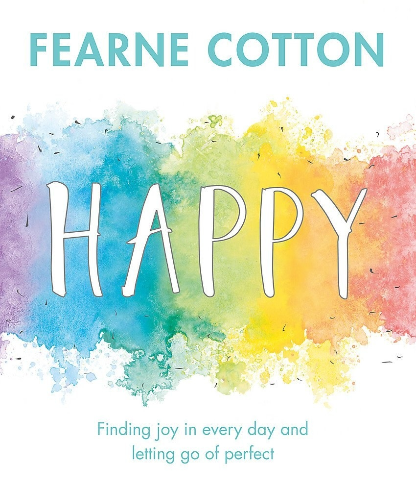 """The cover of Fearne Cotton's book """"Happy"""""""