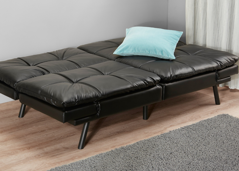 Memory foam fold over futon