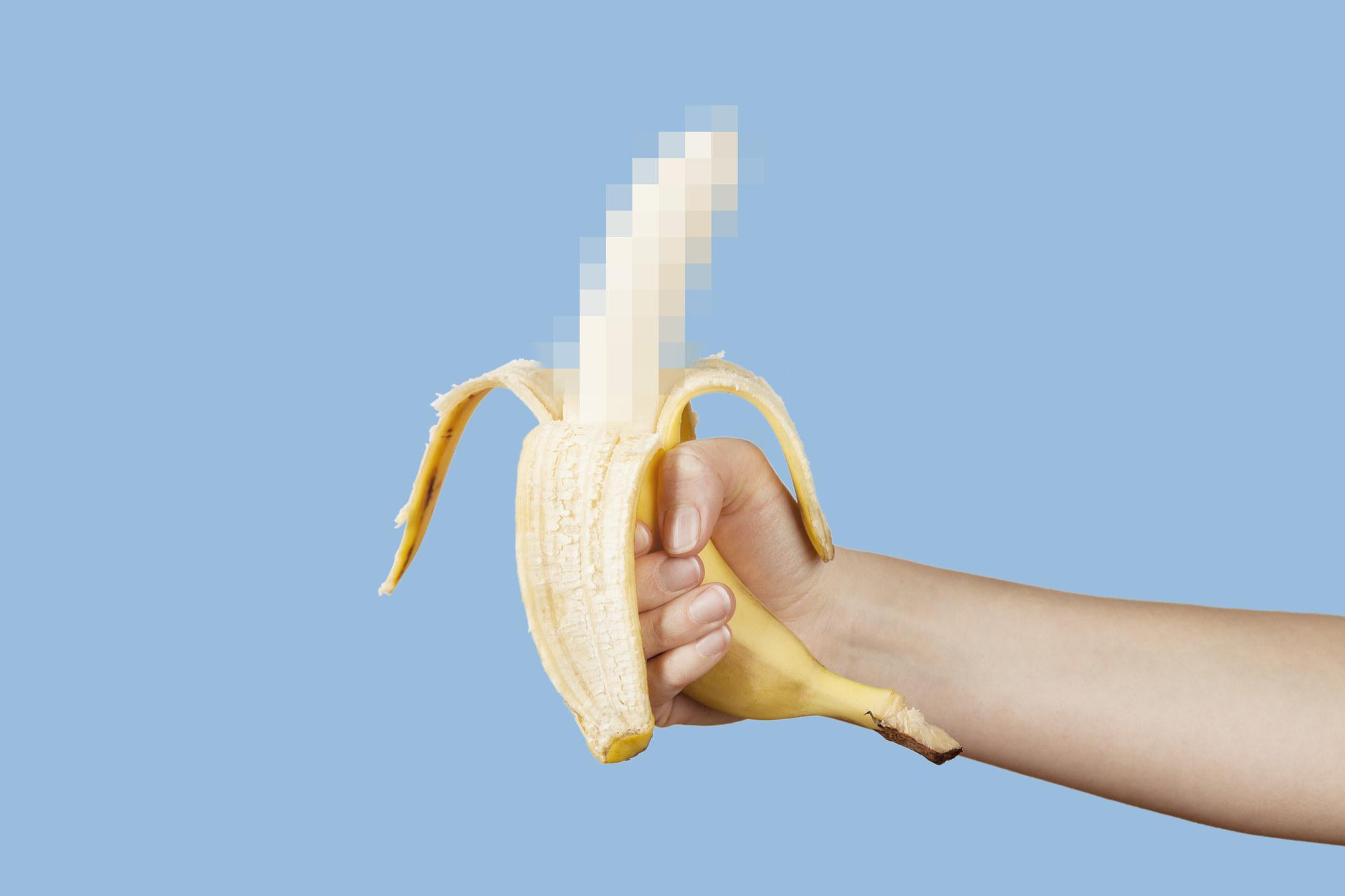 A censored banana