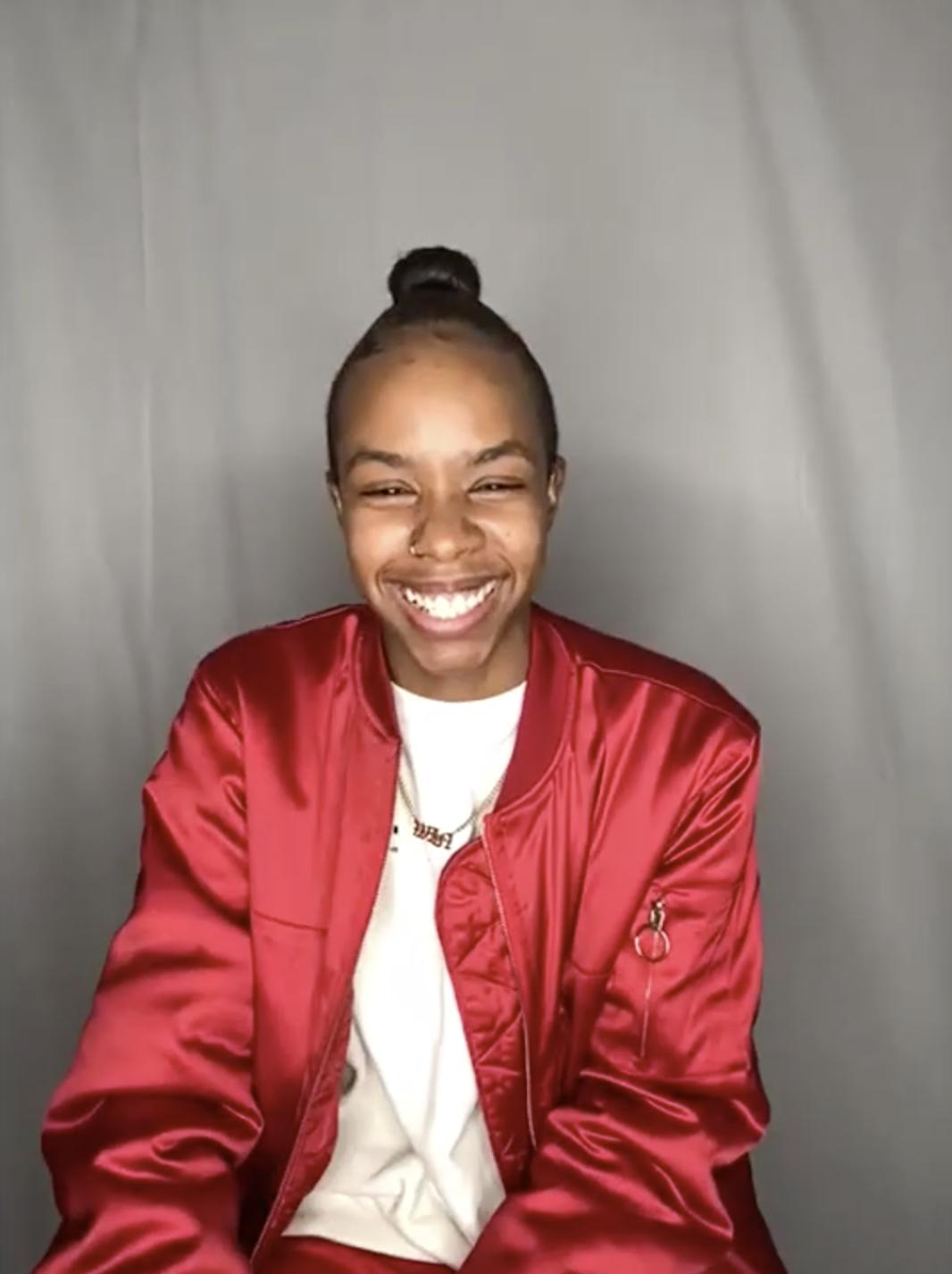 Angel smiling