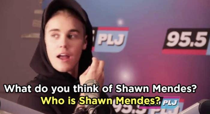 Justin shading Shawn