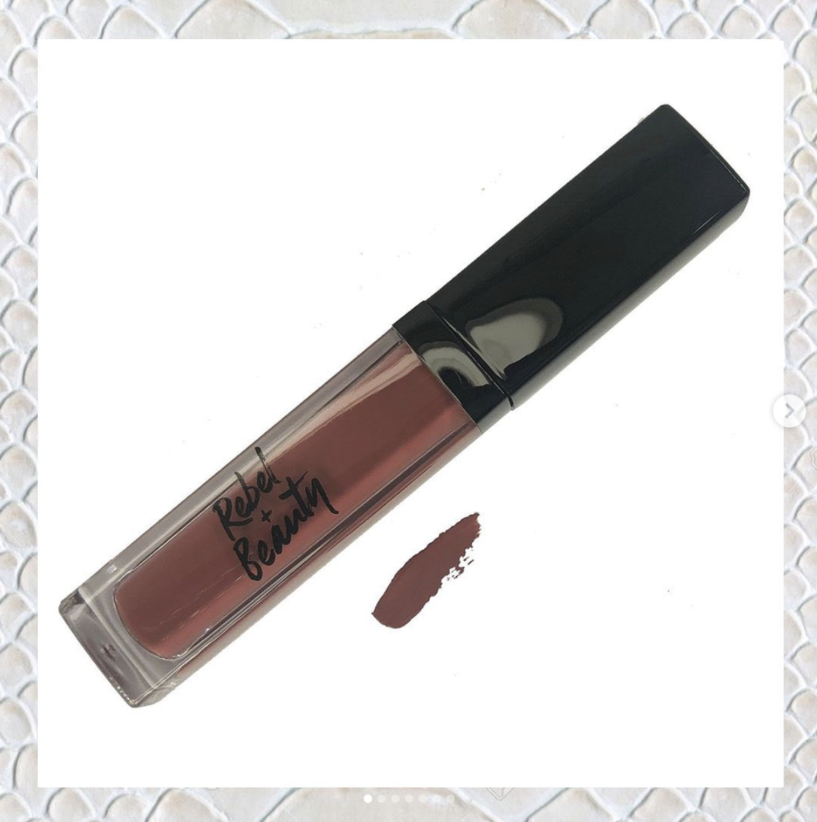 A tube of lipstick in a matte shade