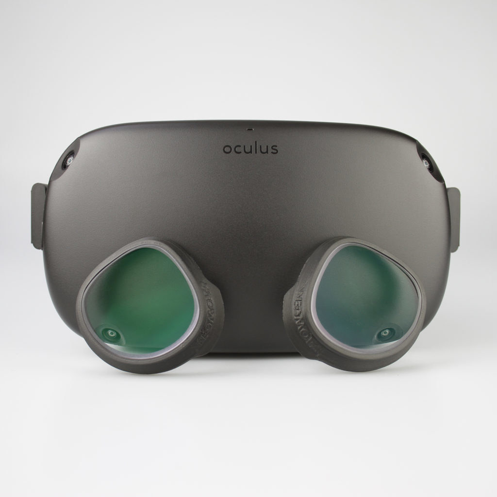 The lens adapters, which clip onto the Oculus lenses