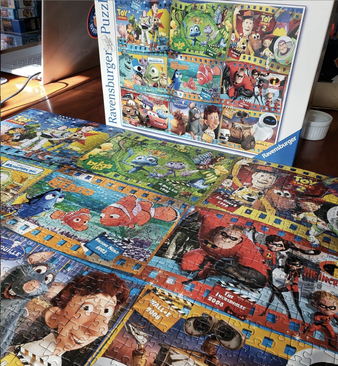 a completed Ravensburger puzzle