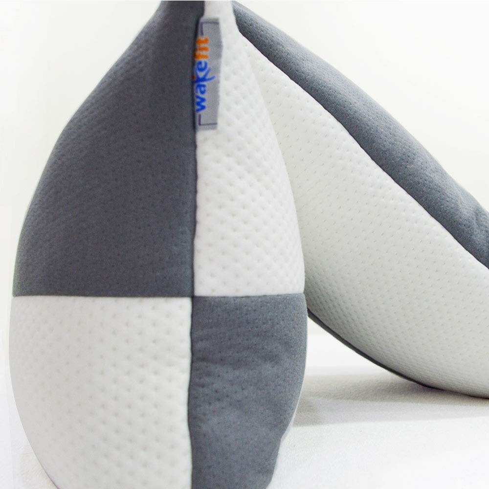 A set of two pillows side by side